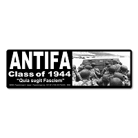 S695 ANTIFA Class of 44 Anti Fascism Nazi Totalitarian Regime Anti Trump 2020 Bumper Sticker