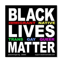S698B Black Lives Matter Immigrant Native Trans Gay Queer BLM Anti Racism Protest Sign Sticker