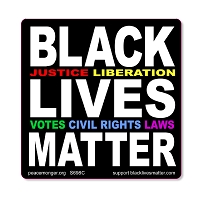 S698C Black Lives Matter Justice Liberation Votes Civil Rights Laws BLM Anti Racism Protest Sign Sticker