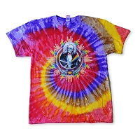 T140 - Tie Dye Laughing Jack Collectible Signed Numbered Jerry Jaspar Grateful Dead Screen Print T-Shirt