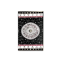 TA43 - ASTROLOGY Astrological Chart Sun Moon Stars Tapestry Bedspread Cotton