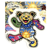 A029 - Dan Morris Grateful Dead Bear Art Decal Window Sticker