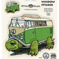 A045 - Turtle Bus Multi Art Decal Window Sticker
