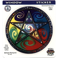 A047 - Elements Pentagram Art Decal Window Sticker