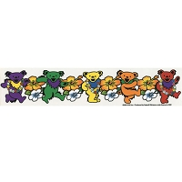 A107 - Grateful Dead Hawaiian Bears Art Decal