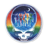 A108 Tina Carpenter Grateful Dead Batik Steal Your Face Rainbow Dancers SYF Art Decal Window Sticker