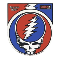 A115-MAG Steal Your Face Grateful Dead Art Decal Deadhead SYF Window Magnetic Sticker