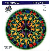 A129 - Sun Peace Art Decal Window Sticker