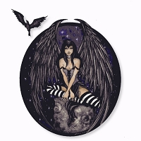 A189 Midnight Fairy Sensual Goth Amy Brown Fantasy Art Decal Window Sticker