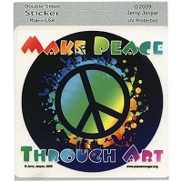 A333 - Make Peace Through Art Decal Window Sticker
