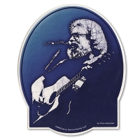 A346 Tina Carpenter Batik Jerry Garcia Portrait with Acoustic Guitar Art Decal Window Sticker