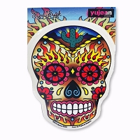 A387 Sugar Skull Peyote Cactus in Flames Sunny Buick Art Decal Sticker