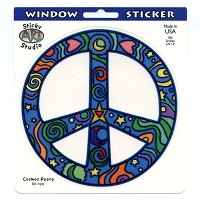 A405 - Cosmos Peace Art Decal  Window Sticker