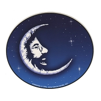 A408  Jerry Garcia in Moon Batik Art Decal Window Sticker