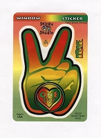 A411 - Rasta Peace Hand Art Decal Window Sticker