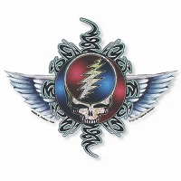 A421 Tribal Steal Your Face Mike Dubois Grateful Dead Winged Art Decal Sticker