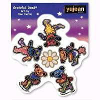 A431 Dan Morris Grateful Dead Dancing Bears Around Smiling Daisy Sticker Decal