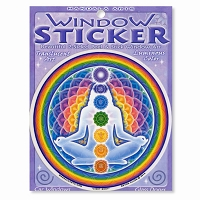 A434 Rainbow Chakra Meditation Enlightened Lotus Mandala Bryon Allen Art Decal Sticker