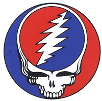 A068L - Grateful Dead Steal Your Face Color Decal - 3 inch Sticker