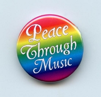 B173 - Peace Through Music Button
