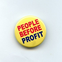 B380 - People Before Profit Button