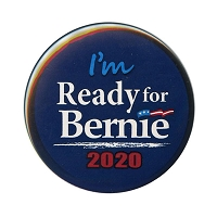 B487 - Ready for Bernie Sanders for President 2020 Button