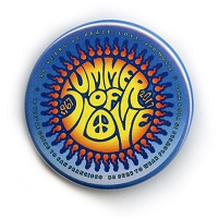 B493 - Summer of Love Commemorative 50th Anniversary Button