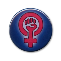 B522-MAG Woman Power Symbol Women's March Protest Rally Magnetic Button