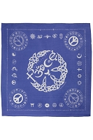 BD001 - Believe in PEACE and Love Symbols Golden Rules Bandana