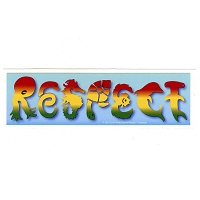 CM072 - Rasta Respect Sea Life Mini Bumper Sticker