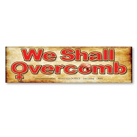 CM084-MAG We Shall Overcomb Womens March Protest Rally Sign Mini Sticker MAGNET