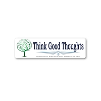 CM152-MAG Think Good Thoughts Brain Tree Color Mini Magnet Sticker