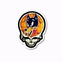 CM270-MAG Kats Creations Batik Irwin Wolf Guitar Steal Your Face Grateful Dead Magnet