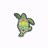 CM271 Kats Creations Batik Rainbow Terrapin Sea Turtle Cut Out Sticker Decal
