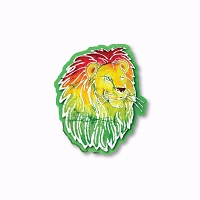CM272 Kats Creations Batik Rasta Lion Roots Reggae Mini Decal Sticker