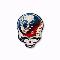 CM274 Kats Creations Batik Jerry Garcia Steal Your Face Mini Decal Sticker