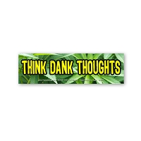 CM268 Think Dank Thoughts Marijuana Pot Ganja Color MINI Sticker