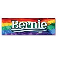 CS155-L - Bernie Sanders 2020 Rainbow Color Sticker