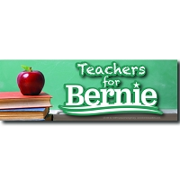 CS155-Q - Teachers for Bernie Color Sticker
