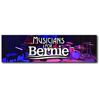 CS155-R - Musicians for Bernie Color Sticker
