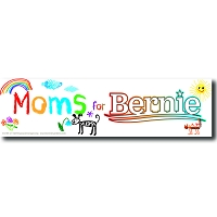CS155-U - Moms for Bernie Color Sticker