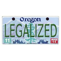 CS171 - Legalized Oregon Cannabis Hemp License Plate Color Sticker