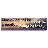 CS186 - May All Beings Be Peaceful Bumper Sticker