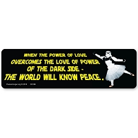 CS196 Power of Love Jimi Hendrix Quote Star Wars Parody Color Sticker
