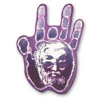 CS227 Kats Creations Batik Jerry Garcia in Jerry's Hand Decal Sticker