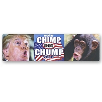 CS233 - Vote Chimp Not Chump 2016 Anti Trump Color Sticker