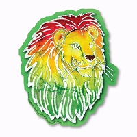 CS237 Kats Creations Batik Rasta Lion Roots Reggae Decal Sticker