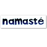 CS250 - Namaste Blue and Black on White Vinyl Color Sticker