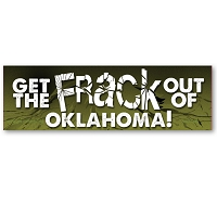 CS251-OK - Get the FRACK out of Oklahoma Anti Fracking Color Sticker