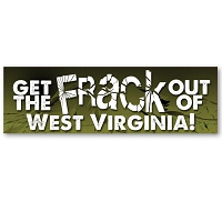 CS251-WV - Get the FRACK out of West Virginia Anti Fracking Color Sticker